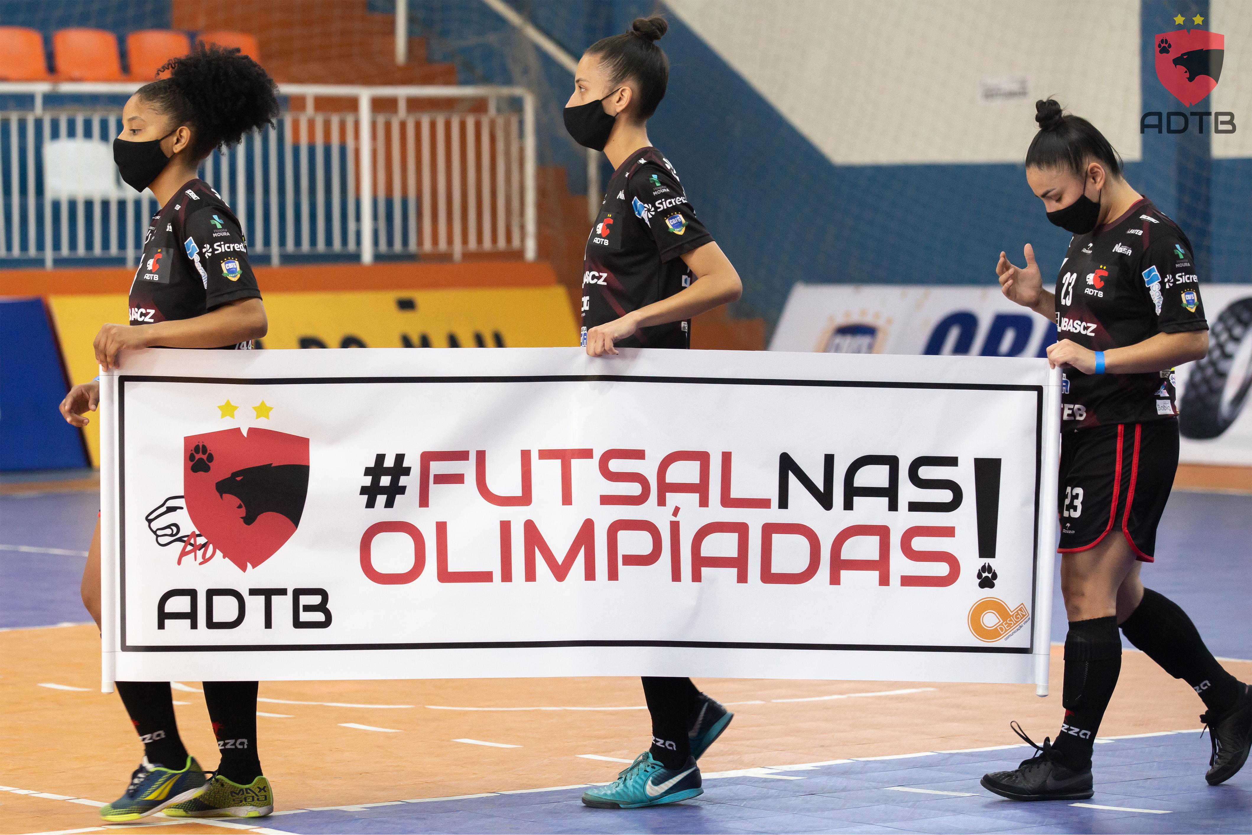 #FUTSALNASOLIMPÍADAS ADTB pede inclusão do futsal nos Jogos Olímpicos.